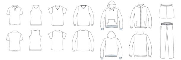 apparel template pattern